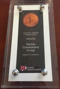 ASCC Decorative Concrete Award First Place Sinclair Construction Stealth 2