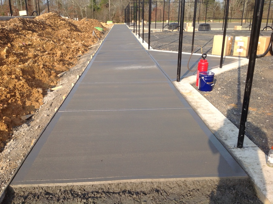 Cast In Place Concrete Slabs : Rome tennis center sinclair construction group